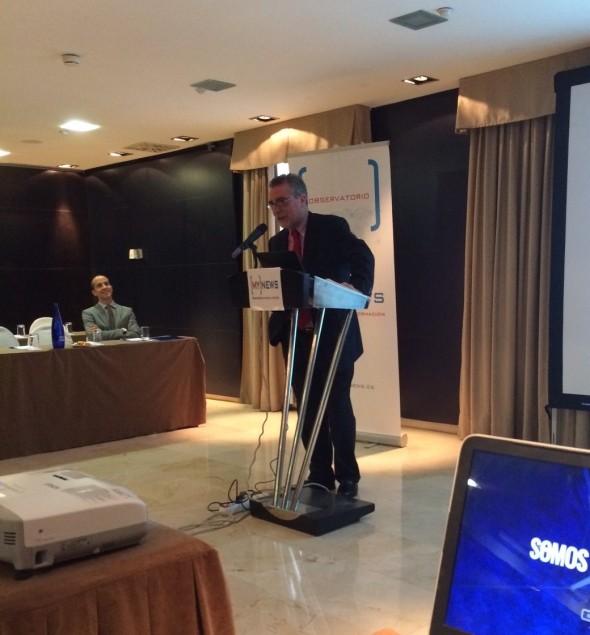 Antonio Viedma, director general de MY NEWS presenta el acto.